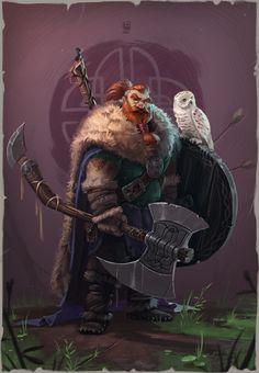 Artwork of vikings, longships and Norse mythology. Fantasy Warrior, Fantasy Dwarf, Fantasy Rpg, Medieval Fantasy, Fantasy Character Design, Character Concept, Character Inspiration, Character Art, Concept Art