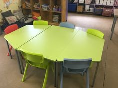 Postura+ Chairs - EN 3 Lime Green, Powder Blue & Poppy Red