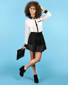 The perfect little black skirt for Fall!