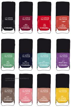 Chanel nail polish pop art