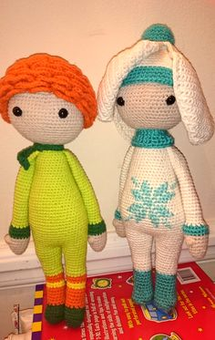 Crochet flower dolls (Ranunculus Ronan and Snowdrop Sia) made by Gosia P - crochet patterns by Zabbez