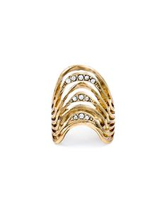 Crystal Pave Ring.
