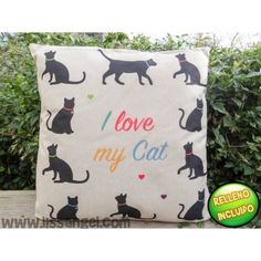 """Marchando otro #cojín para #catlovers, en este directamente lo podéis leer """"I…"""