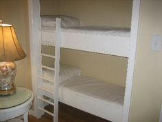 bunk beds in closet! -I love this! Seriously considering doing this for the twins!! They have no space with both their beds but have a HUGE closet!