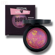 DOG Fetival Love Mark BOMB Colors Baked Eyeshadow Eye shadow Palette in Shimmer Metallic Nude Sexy Matte Eyes Makeup