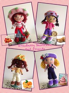 https://flic.kr/p/e4eu3u | Strawberry Shortcake | I received a much wanted gift in the mail from a friend..the leaflet for these fantastic dolls. So, I got busy and made all four of them. They are colorful, detailed and oh so cute.