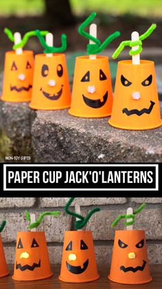 Paper cup Jack'O'Lantern craft for toddlers, preschoolers and older kids to make this Halloween. Glow in the dark nose. Paper cup Jack'O'Lantern craft for toddlers, preschoolers and older kids to make this Halloween. Glow in the dark nose. Kids Crafts, Fun Diy Crafts, Fall Crafts For Kids, Toddler Crafts, Preschool Crafts, Hard Crafts, Paper Cup Crafts, Pumpkin Crafts Kids, K Cup Crafts