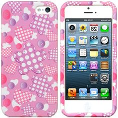 "myLife Pink, Purple, and White {Stitched Flowers, Hearts and Buttons} 2 Piece Snap-On Rubberized Protective Faceplate Case for the NEW iPhone 5 and 5S (5G) 5th Generation Phone by Apple ""All Ports Accessible"" myLife Brand Products http://www.amazon.com/dp/B00UXYO1DK/ref=cm_sw_r_pi_dp_V4cjvb08X3YX7"