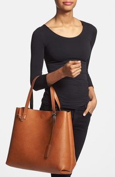 Reversible Black/Brown Leather shopper, perfect for travel to match everything and not get boring!