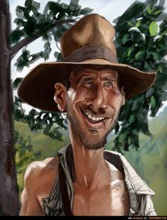 Caricatura de Indiana Jones.
