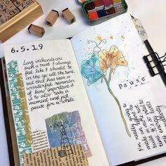 Bullet Journal Month, Bullet Journal Books, Bullet Journal Ideas Pages, Journal Pages, Homemade Journal, Travel Journal Scrapbook, Art And Hobby, End Of The Week, Creative Journal