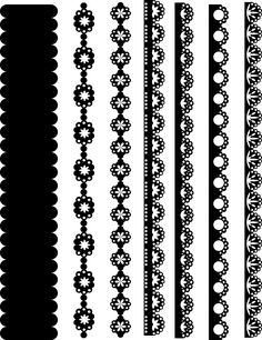 Border Pattern, Lace Border, Border Design, Mandala Design, Mandala Art, Lace Sleeve Tattoos, Lace Stencil, Stencil Stickers, Dremel Carving