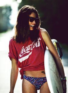 coke shirt for the beach