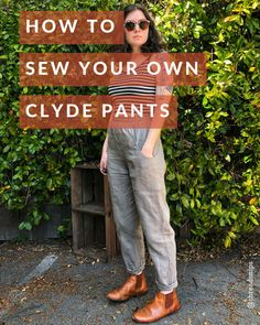 Best Images sewing pants pattern Tips Clyde Pants Hack Tutorial Dress Sewing Patterns, Sewing Patterns Free, Free Sewing, Sewing Tutorials, Shirt Patterns, Tutorial Sewing, Sewing Projects, Clothes Patterns, Design Patterns