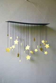 Raining Stars Mobile by shopprettythings on Etsy