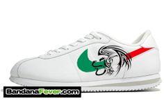 huge discount 505c5 20268 Mexican Flags, Custom Sneakers, Nike Cortez, Chicano, Nike Shoes, Sneakers  Nike, Bandana, Designer Shoes, Zen