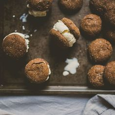 Spiced Maple-Roasted Pear Ice Cream Sandwiches recipe on Food52