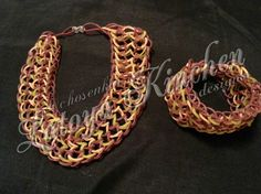 Dragon Scale Matching Cuff & Choker Set made by me @achosenkin