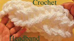 Como tejer una diadema a Crochet en punto de argollas gruesas - Learn Crochet - YouTube