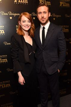 """"""" Emma Stone and Ryan Gosling visit the Dom Perignon Lounge before receiving the Outstanding Performers Award at The Santa Barbara International Film Festival on February 2017 in Santa Barbara, California. Ryan Gosling Movies, Ryan Gosling Style, Santa Barbara Film Festival, Hunter Parrish, Ryan Thomas, Emma Stone Style, Kendall Schmidt, Hey Girl, International Film Festival"""