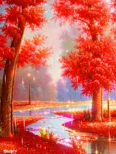 Ayobalimi Beautiful Gif, Beautiful Paintings, Beautiful Landscapes, Beautiful Pictures, Fall Pictures, Pictures Images, Nature Pictures, Foto Gif, Nature Gif