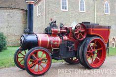 "MANN Steam Tractor ""Little Jim"" Vintage Tractors, Old Tractors, Vintage Farm, Steam Tractor, Steam Engine, Old Cars, Antique Cars, Restoration, Preston"