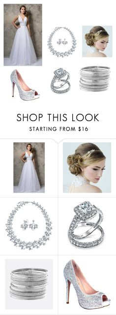 """""""Wedding ideas"""" by smithy-32 ❤ liked on Polyvore featuring Nina Canacci, Bling Jewelry, Avenue and Lauren Lorraine"""