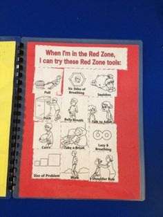 "Utilizing zone cards can help children how to identify how they are feeling, and activities they can complete when in ""red"" to promote self-regulation."