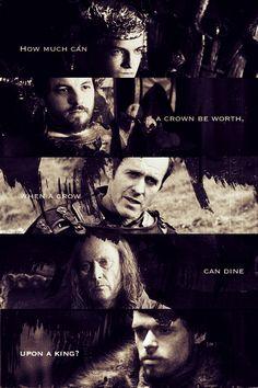 The War of Five Kings. Joffrey Baratheon, Renly Baratheon, Stannis Baratheon, Balon Greyjoy, and Robb Stark