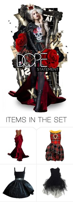"""""""Punk Queen"""" by mew-muse ❤ liked on Polyvore featuring art"""