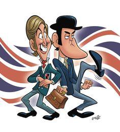 Monty Python caricature by Pete Emslie