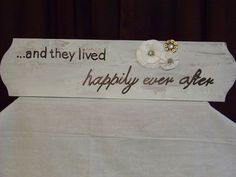 The back of the flower girl sign