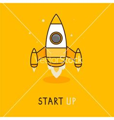 Launch icon in flat style vector by venimo on VectorStock®