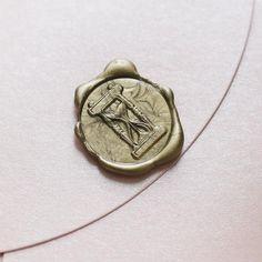 Hourglass Wax Seal Stamp/ invitation seals/wedding sealing wax-WS115