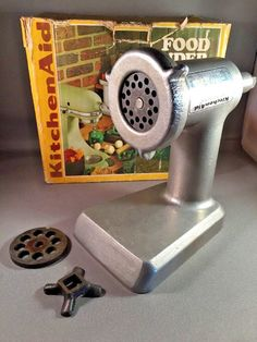 Vintage KitchenAid Hobart Metal Food Chopper Meat Grinder Attachment FG  #Kitchenaid