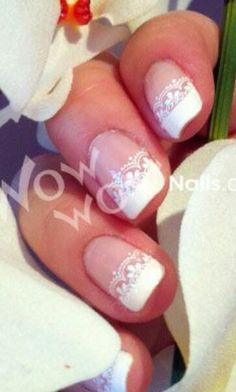 Laced bridal nails