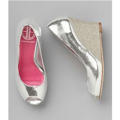 Easily distracted by shiny things... and martinis...(Lilly Pulitzer Resort Chic Wedge).
