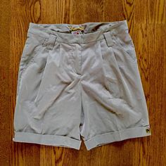 Anthropologie silk shorts Tawny brown shorts by Yoanna Baraschi. From Anthro. Size 8. EUC. The last two close up pics are the most true to color. Back right hem has very subtle water marks (see pic 4). Not noticeable, but want to mention. Otherwise no signs of wear. Anthropologie Shorts