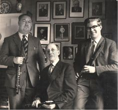 The Walker family, three generations of English principal flute players. Gordon, Eddie and Tony.