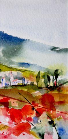 Triptyque Provençal 03 - Painting,  20x10 cm ©2015 par Véronique Piaser-Moyen -  Peinture