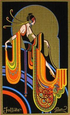 Example of Art Deco. 1920s playing card art. - ✯ http://www.pinterest.com/PinFantasy/lifestyles-~-belle-%C3%A9poque-y-a%C3%B1os-1920-arte-y-moda/