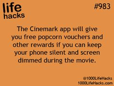 With a small popcorn costing $10 a cup it would behoove you to follow this hack and save some cash