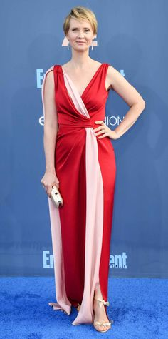 All the Glam Red Carpet Looks from the Critics' Choice Awards - Cynthia Nixon from InStyle.com