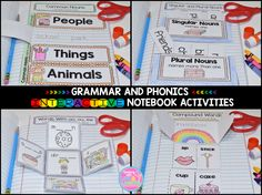 First grade grammar and phonics interactive notebook activities. It's time to dive right in!
