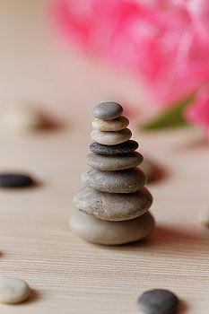 Zen stones by Gaukhar Yerk #Gaukhar YerkFineArt #HomeDecor #HomeArt #Interior Design #FineArtPrint #stones #zen