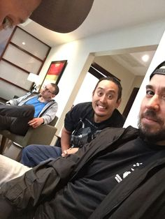 Linkin Park, Band Meeting, March 2016- Mike, Joe, Chester and Dave's eye :D