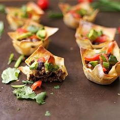 Serve up these fun and easy beef taco cups for your next party, or for your family Taco Tuesday night!