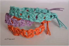 Summertime Macrame Bracelets (with Josephine knots) by pranita - Only photo - Josephine knot pattern: http://www.pinterest.com/pin/374291419002622774/