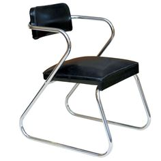 Gilbert Rohde Style 'Z' Chair by Royalchrome
