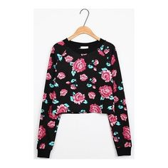 Fancy Flower Print Long-sleeved Pullover (440 UYU) ❤ liked on Polyvore featuring tops, sweaters, dressy sweaters, floral print tops, floral sweater, flower print tops and long sleeve pullover sweater